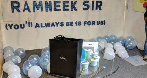 Celebrating Ramneek Sir Birthday