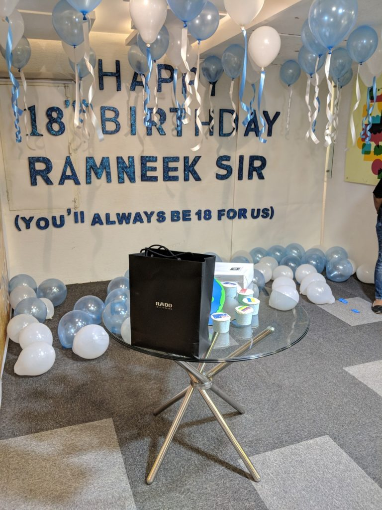 Celebrating Ramneek Sir Birthday